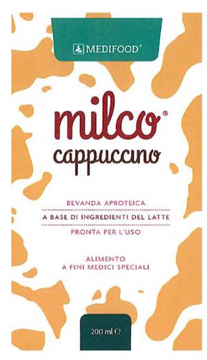 MEDIFOOD MILCO BEVANDA APROTEICA CAPPUCCINO 6 X 200 ML -