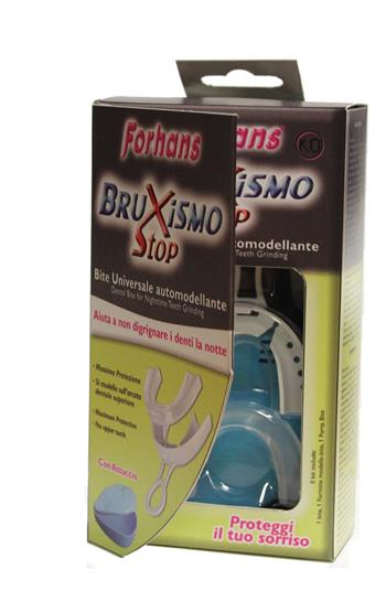 BITE UNIVERSALI AUTOMODELLANTI BRUXISMO STOP FORHANS 2 PEZZI - Farmaseller