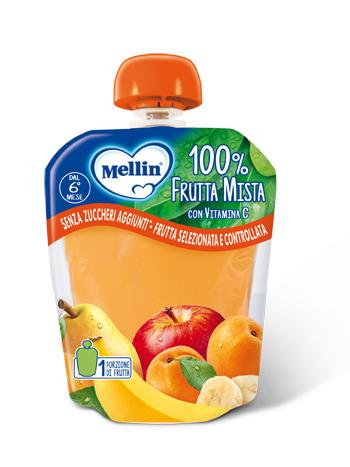 MELLIN 100% FRUTTA MISTA 90 G - Farmacia Castel del Monte
