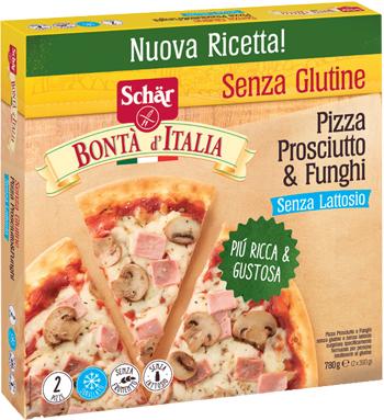 SCHAR SURGELATI PIZZA PROSCIUTTO & FUNGHI BONTA'ITALIA 2 PEZZI X 390 G - Farmacia 33