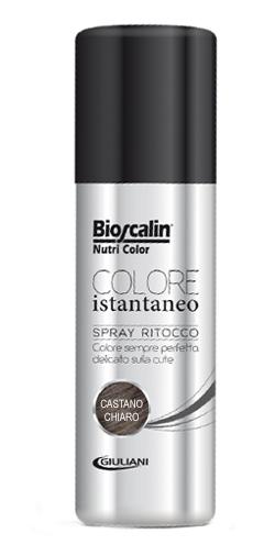 BIOSCALIN NUTRICOLOR COLORE ISTANTANEO CASTANO CHIARO 75 ML SPRAY RITOCCO - FARMAEMPORIO