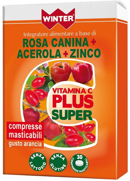 WINTER VITAMINA C PLUS SUPER  + ZINCO 30 COMPRESSE MASTICABILI - Zfarmacia