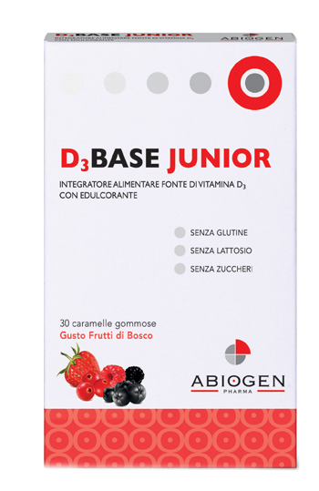 D3BASE JUNIOR 30 CARAMELLE GOMMOSE FRUTTI DI BOSCO - latuafarmaciaonline.it