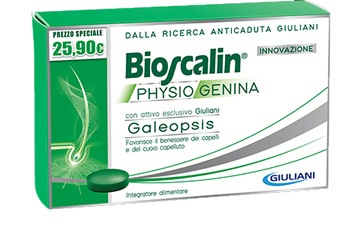 BIOSCALIN PHYSIOGENINA INTEGRATORE CAPELLI ANTICADUTA UOMO DONNA 30 CAPSULE  - Farmastar.it
