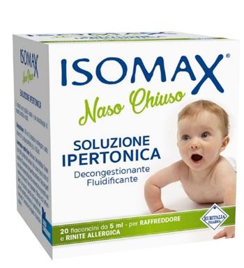 SOLUZIONE IPERTONICA ISOMAX NASO CHIUSO 20 FLACONCINI DA 5 ML - Farmacia Castel del Monte