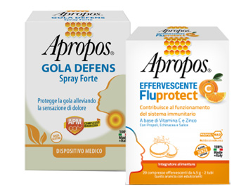 APROPOS SPRAY FORTE + C FLUPROTECT EFFERVESCENTE - Biofarmasalute.it