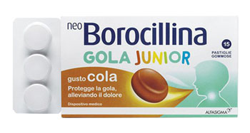 NEOBOROCILLINA GOLA JUNIOR 15 PASTIGLIE GOMMOSE - Farmapage.it