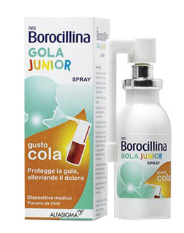 NEOBOROCILLINA GOLA JUNIOR SPRAY 20 ML - Carafarmacia.it