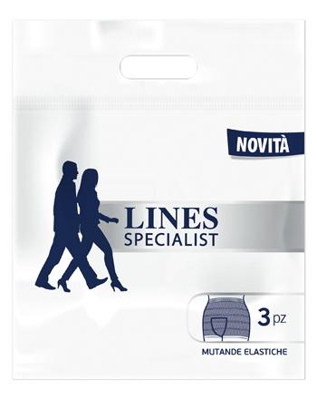 LINES SPECIALIST MUTANDA ELASTICA XL 3 PEZZI - Zfarmacia