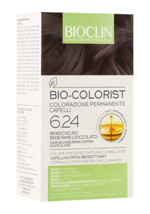BIOCLIN BIO COLORIST 6,24 BIONDO SCURO BEIGE RAME - Farmia.it
