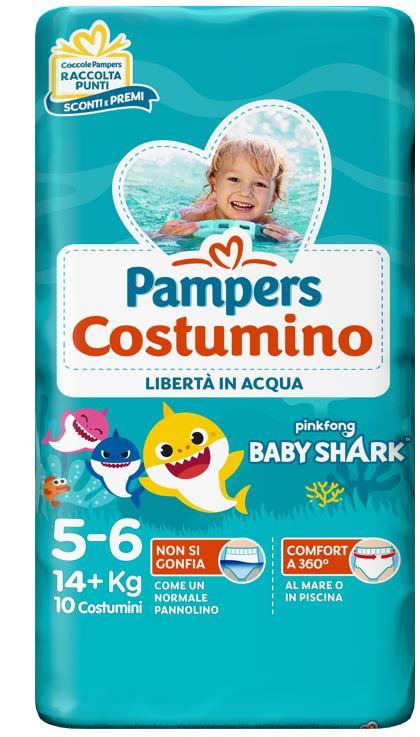 PAMPERS COSTUMINO CP 10 TG 5+ TG 5+ 10 PEZZI - Farmafamily.it