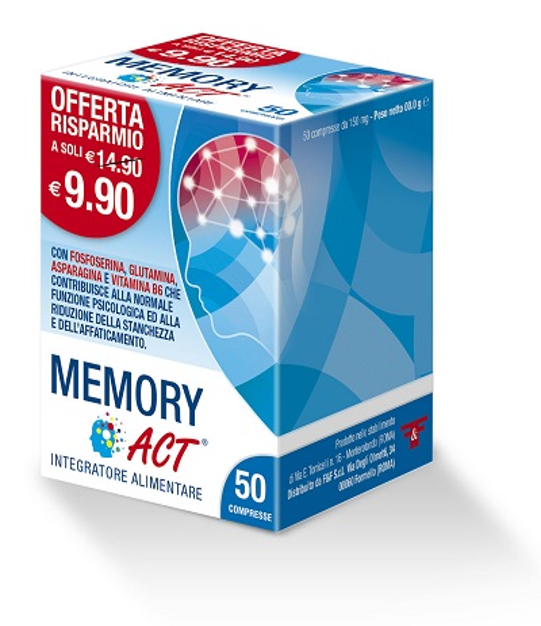 MEMORY ACT 50 COMPRESSE - FARMAEMPORIO