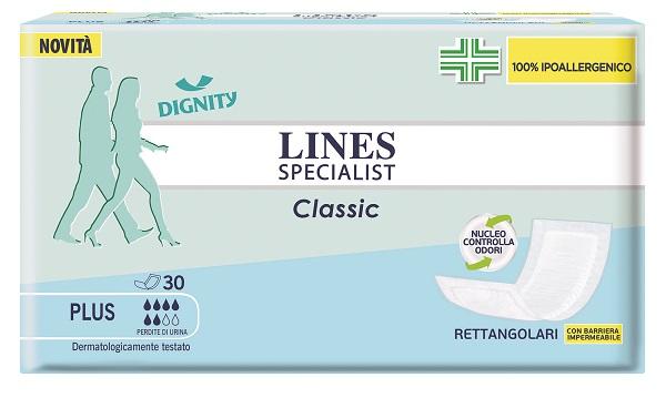 PANNOLONE LINES SPECIALIST CLASSIC RETTANGOLARE CON BARRIERA CONTROL 30 PEZZI - farmaciadeglispeziali.it
