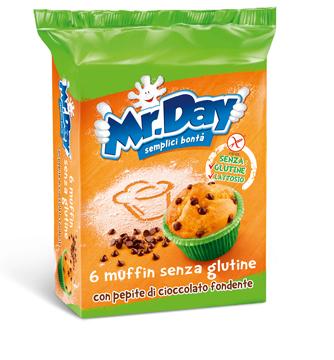 MR DAY MUFFIN SENZA GLUTINE CON PEPITE DI CIOCCOLATO FONDENTE 6 X 42 G - Farmacia Massaro