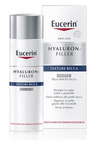 EUCERIN HYALURON+FILLER TEXTURE RICCA NOTTE 50 ML - latuafarmaciaonline.it