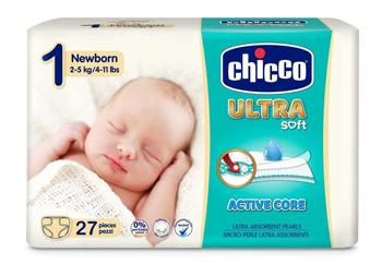 CHICCO PANNOLINO ULTRA CHICCHO NEWBORN 27 X 10 - La farmacia digitale