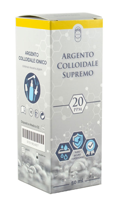 ARGENTO COLLOIDALE SUPREMO 20PPM CERTIFICATO SPRAY CON CONTAGOCCE + EROGATORE NASO + EROGATORE GOLA + EROGATORE PELLE - Spacefarma.it