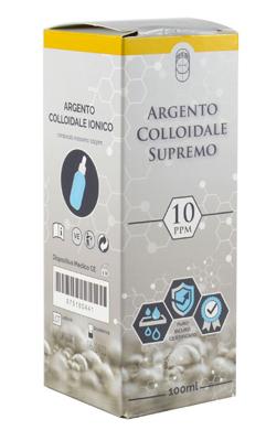 ARGENTO COLLOIDALE SUPREMO 10PPM CERTIFICATO CON CONTAGOCCE 100 ML - Farmaseller