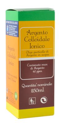 ARGENTO COLLOIDALE IONICO 40PPM CERTIFICATO 250 ML - latuafarmaciaonline.it