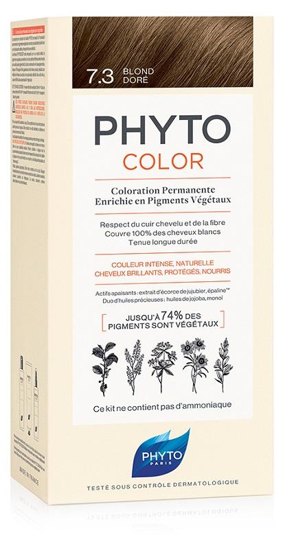 PHYTOCOLOR 7.3 BIONDO DORATO 1 LATTE + 1 CREMA + 1 MASCHERA + 1 PAIO DI GUANTI - Antica Farmacia Del Lago