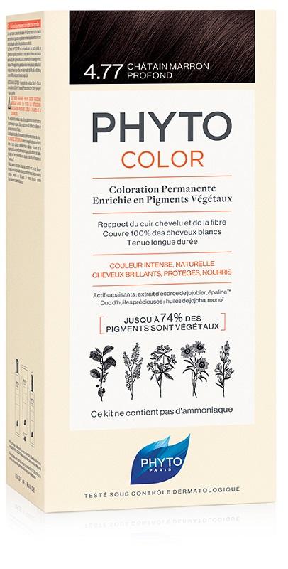 PHYTOCOLOR 4.77 CAST MARR INT 1 LATTE + 1 CREMA + 1 MASCHERA + 1 PAIO DI GUANTI - La farmacia digitale