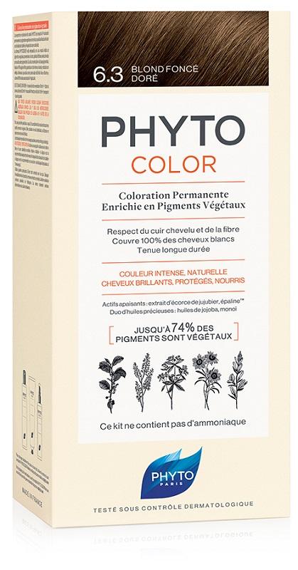 PHYTOCOLOR 6.3 BIONDO SCU DOR 1 LATTE + 1 CREMA + 1 MASCHERA + 1 PAIO DI GUANTI - Antica Farmacia Del Lago