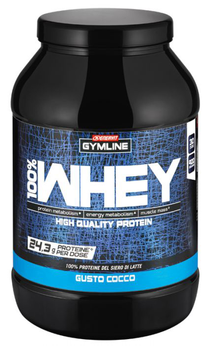 GYMLINE 100% WHEY CONCENTRATE COCCO 900 G - Farmaseller