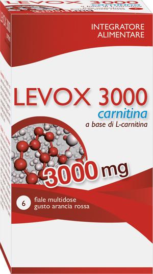 LEVOX 3000 CARNITINA 6 FLACONCINI DA 25 ML - Farmapage.it
