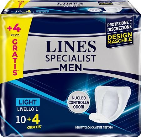 PANNOLONI LINES SPECIALIST MEN LIVELLO 1 14 PEZZI - Farmacia Centrale Dr. Monteleone Adriano
