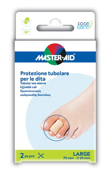 TUBO IN GEL MASTER-AID ELASTICIZZATO L 7,5 CM 2 PEZZI - Farmajoy