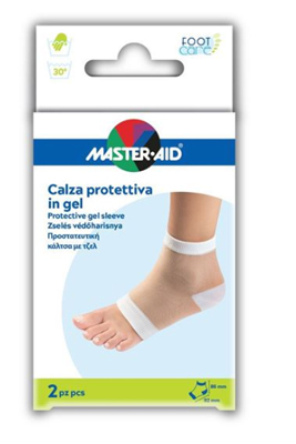 CALZA MASTER-AID CON PROTEZIONE IDRATANTE IN GEL 2 PEZZI - Farmajoy
