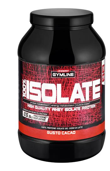 Gymline 100% Whey Isolate Cacao 900g - Sempredisponibile.it
