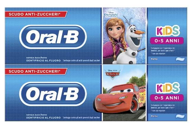 ORALB DENTIFRICIO KIDS FROZEN&CARS 0-5 ANNI 75 ML - DrStebe