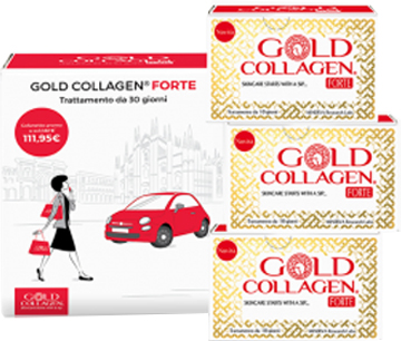 GOLD COLLAGEN FORTE TRATTAMENTO MENSILE 30 FLACONI - Spacefarma.it