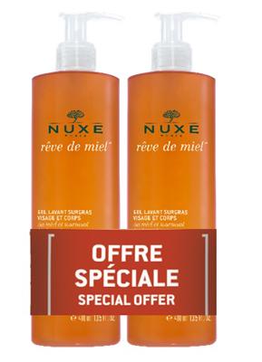 NUXE REVE DE MIEL DUO GEL DETERGENTE VISO E CORPO 2X400 ML - Farmaseller