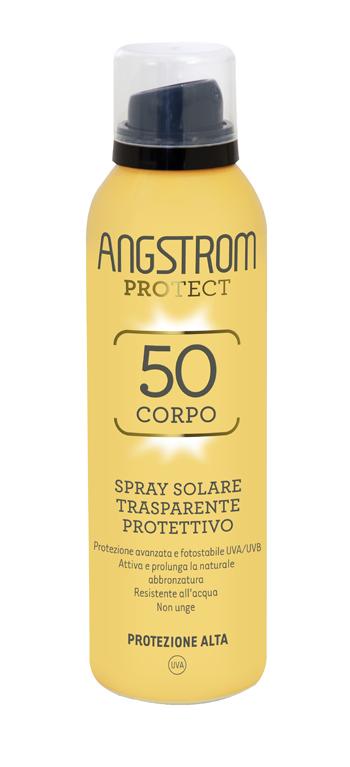 ANGSTROM PROTECT 50 CORPO SPRAY SOLARE TRASPARENTE 150 ML - La farmacia digitale