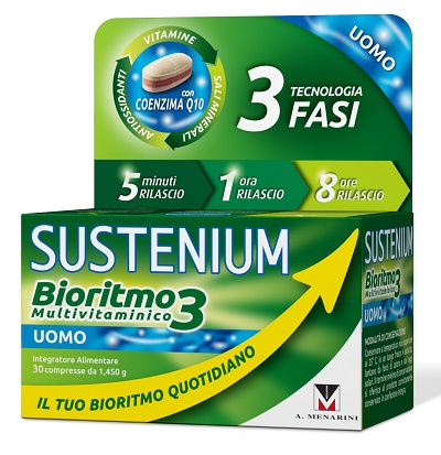 SUSTENIUM BIORITMO3 UOMO ADULTO 30 COMPRESSE - Farmabros.it