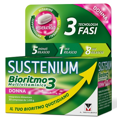 SUSTENIUM BIORITMO3 DONNA ADULTA 30 COMPRESSE - Farmajoy