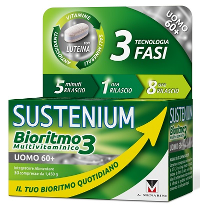 SUSTENIUM BIORITMO3 UOMO 60+ 30 COMPRESSE - Farmabros.it