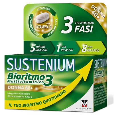 SUSTENIUM BIORITMO3 DONNA 60+ 30 COMPRESSE - Farmastop