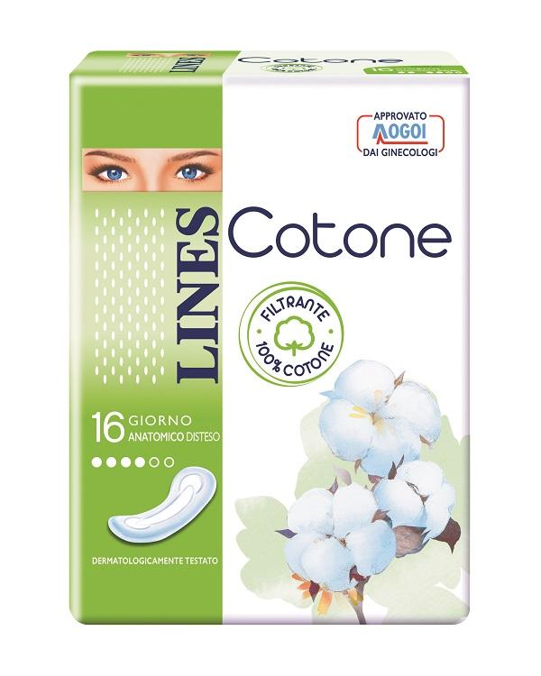 LINES COTONE NON ULTRA ANATOMICI DISTESI 16 PEZZI - Farmacia 33