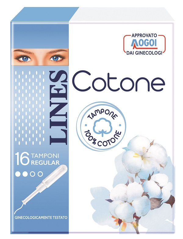 LINES COTONE TAMPONE REGULAR 16 PEZZI - Farmacia Giotti