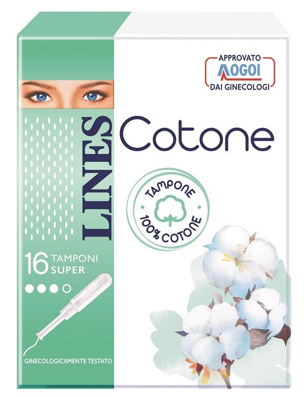 LINES COTONE TAMPONE SUPER 16 PEZZI - Farmacia Giotti