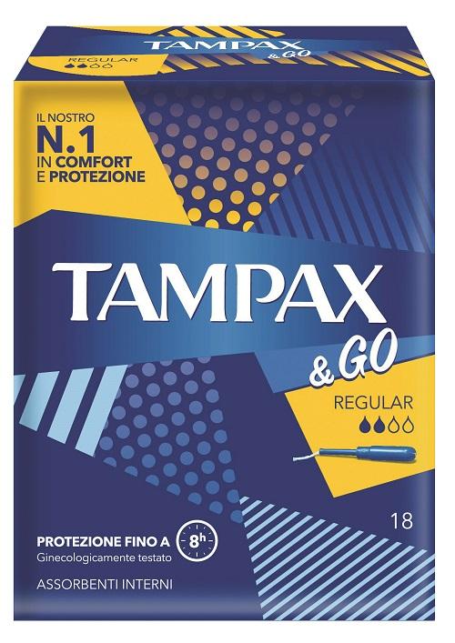 TAMPAX&GO REGULAR 18 PEZZI - Farmafamily.it