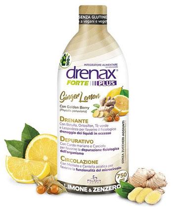 DRENAX FORTE PLUS GINGER LEMON 750 ML - La farmacia digitale