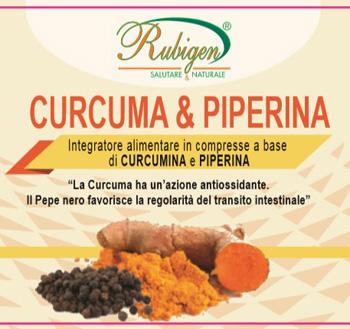 CURCUMA & PIPERINA RUBIGEN 120 COMPRESSE DA 500 MG - Farmaseller