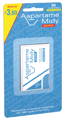 ASPARTAME MIDY POCKET 80 COMPRESSE - Parafarmacia Tranchina