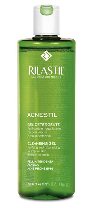 Rilastil Acnestil Gel Detergente Purificante Viso Pelle Impura 250 ml