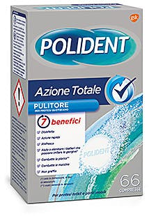 POLIDENT AZIONE TOTALE 66 COMPRESSE PULITORE PER PROTESI QUOTIDIANO - Farmaunclick.it