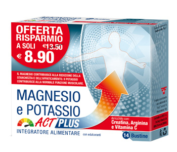 MAGNESIO E POTASSIO ACT PLUS 14 BUSTINE - Spacefarma.it